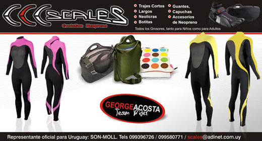Neopreno, trajes, surf, scales, Evolution Neoprene